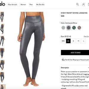 BRAND NEW ALO YOGA PANTS WITH TAGS